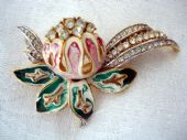 1960's 1970's Exotic Flower Bloom Brooch (SOLD)